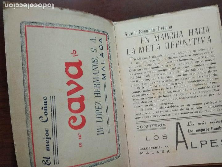 Coleccionismo deportivo: CALENDARIO LIBRITO FUTBOL CAMPEONATO NACIONAL DE LIGA 46 47 1946 1947 SEGUNDA DIVISION MALAGA 54PAG. - Foto 2 - 211891376