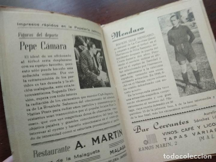 Coleccionismo deportivo: CALENDARIO LIBRITO FUTBOL CAMPEONATO NACIONAL DE LIGA 46 47 1946 1947 SEGUNDA DIVISION MALAGA 54PAG. - Foto 4 - 211891376