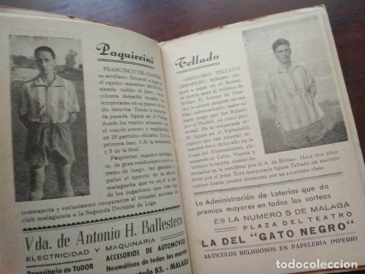 Coleccionismo deportivo: CALENDARIO LIBRITO FUTBOL CAMPEONATO NACIONAL DE LIGA 46 47 1946 1947 SEGUNDA DIVISION MALAGA 54PAG. - Foto 5 - 211891376