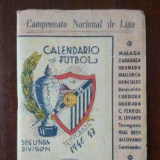 Coleccionismo deportivo: CALENDARIO LIBRITO FUTBOL CAMPEONATO NACIONAL DE LIGA 46 47 1946 1947 SEGUNDA DIVISION MALAGA 54PAG.. Lote 211891376