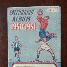 Coleccionismo deportivo: CALENDARIO ALBUM FUTBOL LIGA 50 51 1950 1951 PRIMERA DIVISION CASA ROMERO ANIS Y COÑAC MALAGA. Lote 211891602