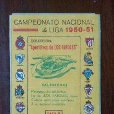 Coleccionismo deportivo: CALENDARIO FUTBOL CAMPEONATO NACIONAL DE LIGA 50 51 1950 1951 CERVEZA VICTORIA MALAGA PRIMERA DIVISI. Lote 211891870