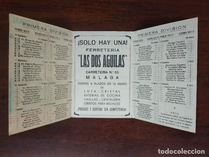 Coleccionismo deportivo: CALENDARIO FUTBOL CAMPEONATO NACIONAL DE LIGA 50 51 TEMPORADA 1950 1951 MALAGA CALZADOS SERRANO - Foto 3 - 211892053