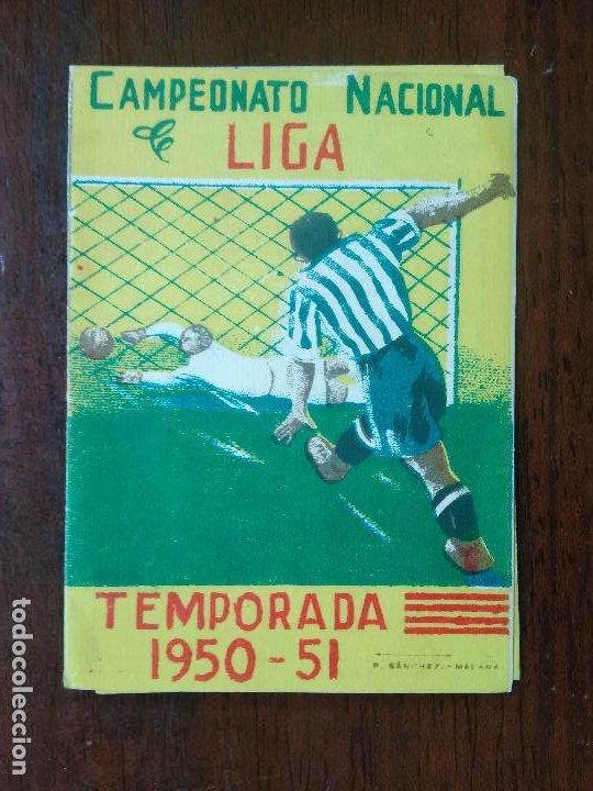 CALENDARIO FUTBOL CAMPEONATO NACIONAL DE LIGA 50 51 TEMPORADA 1950 1951 MALAGA CALZADOS SERRANO (Coleccionismo Deportivo - Documentos de Deportes - Calendarios)