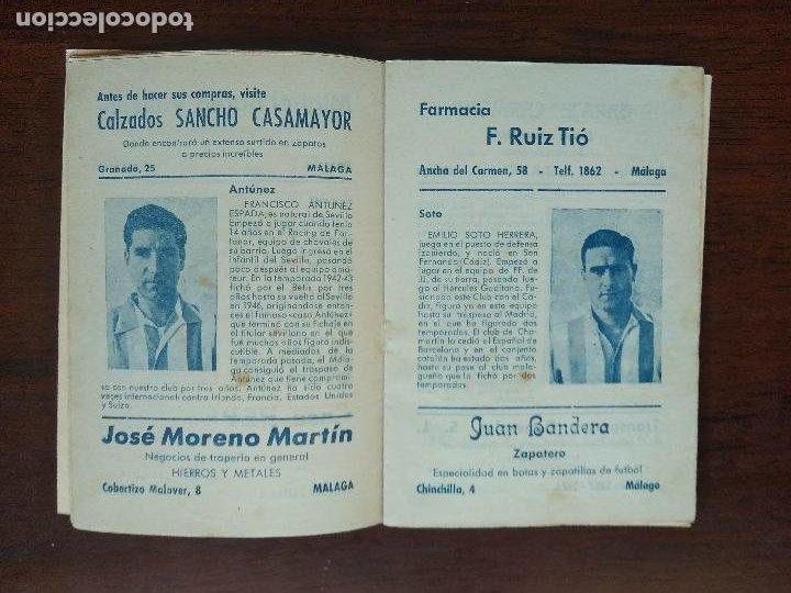 Coleccionismo deportivo: CALENDARIO FUTBOL LIGA 53 54 TEMPORADA 1953 1954 CON BIOGRAFIAS DE LOS JUGADORES DEL CD MALAGA - Foto 3 - 211892692