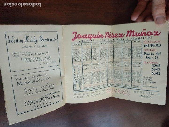 Coleccionismo deportivo: CALENDARIO FUTBOL LIGA 53 54 TEMPORADA 1953 1954 CON BIOGRAFIAS DE LOS JUGADORES DEL CD MALAGA - Foto 5 - 211892692