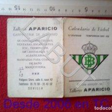 Coleccionismo deportivo: 1981 REAL BETIS BALOMPIE CALENDARIO LIGA 1ª DIVISIÓN C6. Lote 212844503