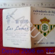 Coleccionismo deportivo: 1982 REAL BETIS BALOMPIE CALENDARIO LIGA 1ª DIVISIÓN C6. Lote 212844583
