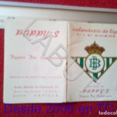 Coleccionismo deportivo: 1986 REAL BETIS BALOMPIE CALENDARIO LIGA 1ª DIVISIÓN C6. Lote 212844626