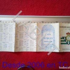 Coleccionismo deportivo: 1989 REAL BETIS BALOMPIE CALENDARIO LIGA 1ª DIVISIÓN C6. Lote 212844691