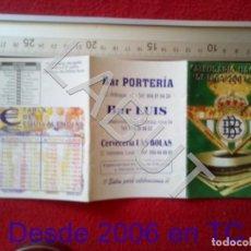 Coleccionismo deportivo: 2001 REAL BETIS BALOMPIE CALENDARIO LIGA 1ª DIVISIÓN C6. Lote 212844813