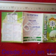 Coleccionismo deportivo: 2003 REAL BETIS BALOMPIE CALENDARIO LIGA 1ª DIVISIÓN C6. Lote 212844988