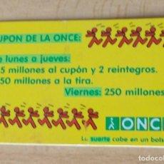 """Coleccionismo deportivo: CALENDARIO PUBLICITARIO """"ONCE"""" DE PLÁSTICO AÑO 1998. Lote 213570228"""