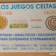 """Coleccionismo deportivo: CALENDARIO PUBLICITARIO """"LOS JUEGOS CELTAS"""" DE PLÁSTICO AÑO 1996. Lote 213570462"""