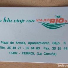 """Coleccionismo deportivo: CALENDARIO PUBLICITARIO """" VIAJES RIO S.L."""" DE PLÁSTICO AÑO 1996. Lote 213570713"""
