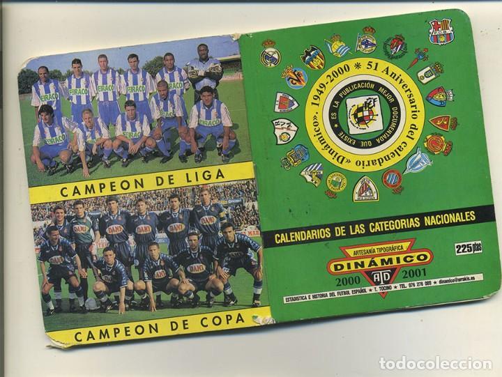 DINAMICO CALENDARIO DE PRIMERA Y SEGUNDA DIVISIÓN DE FUTBOL 00/01 2000/2001 CON FOTOGRAFIAS (Coleccionismo Deportivo - Documentos de Deportes - Calendarios)