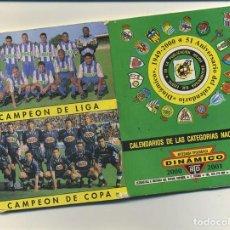 Coleccionismo deportivo: DINAMICO CALENDARIO DE PRIMERA Y SEGUNDA DIVISIÓN DE FUTBOL 00/01 2000/2001 CON FOTOGRAFIAS. Lote 214384718