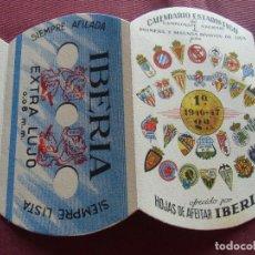 Collectionnisme sportif: FUTBOL.CALENDARIO TROQUELADO,TEMPORADA 1946-47.1ª Y 2ª DIVISION-IBERIA.. Lote 276823718