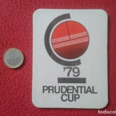 Coleccionismo deportivo: POSAVASOS COASTER MAT O SIMIL CRICKET ? CRIQUET PRUDENTIAL CUP 79 1979 COPA CALENDAR AUSTRALIA INDIA. Lote 215529993