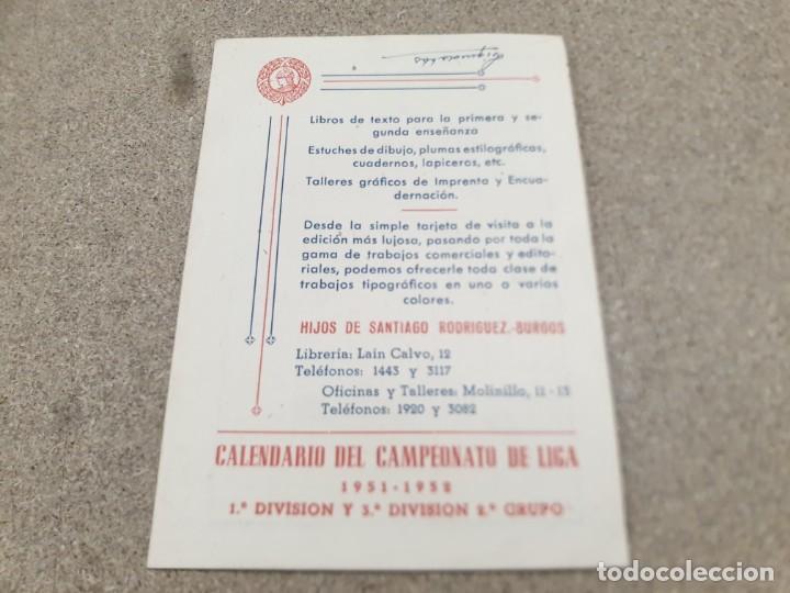 Coleccionismo deportivo: CALENDARIO DEL CAMPEONATO DE LIGA...1951--1952... - Foto 6 - 216421323