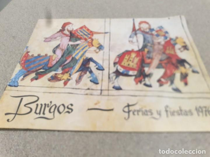 PROGRAMA DE FERIAS Y FIESTAS....BURGOS...1976... (Coleccionismo Deportivo - Documentos de Deportes - Calendarios)