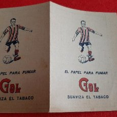 Coleccionismo deportivo: MUY ANTIGUO CALENDARIO DE FUTBOL PUBLICIDAD PAPEL DE FUMAR GOL ALCOY ALICANTE ORIGINAL CR10. Lote 217362505