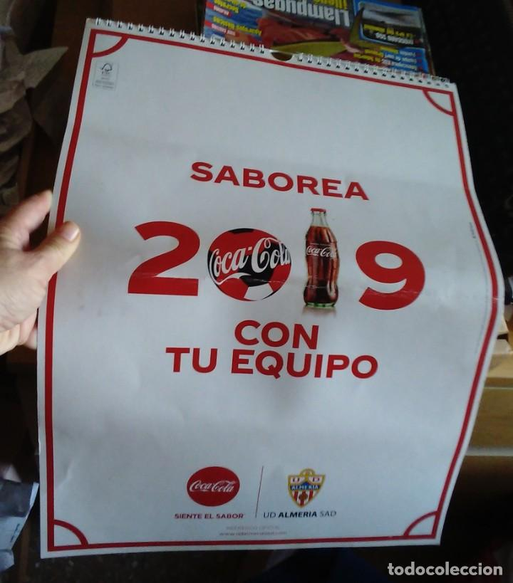 CALENDARIO 2019 COCA COLA CLUB DE FUTBOL UNIÓN DEPORTIVA ALMERÍA UD ALMERÍA (Coleccionismo Deportivo - Documentos de Deportes - Calendarios)