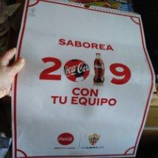 Coleccionismo deportivo: CALENDARIO 2019 COCA COLA CLUB DE FUTBOL UNIÓN DEPORTIVA ALMERÍA UD ALMERÍA. Lote 219217783