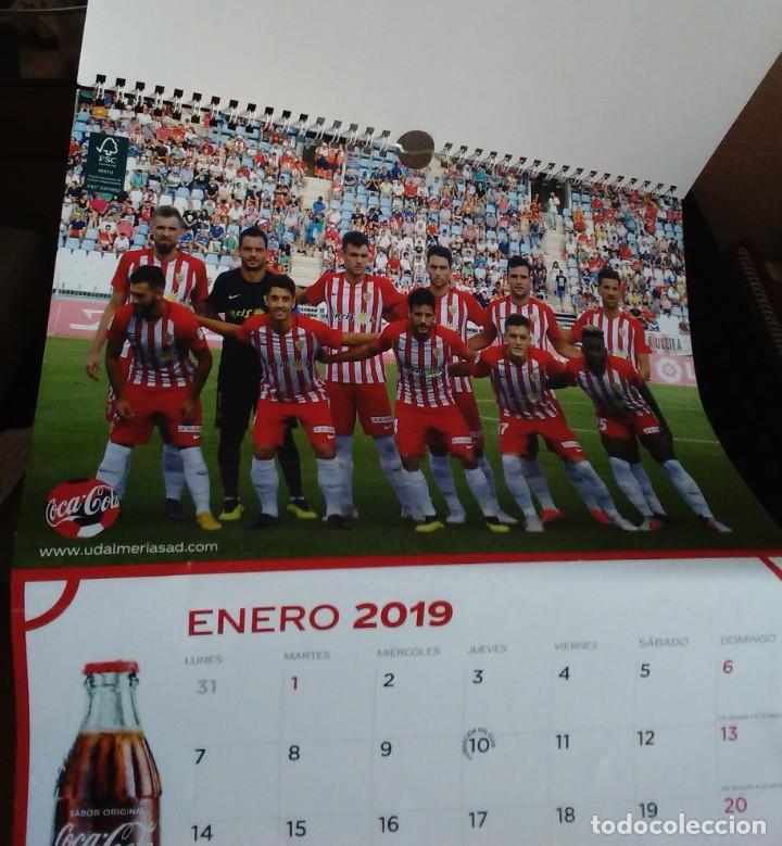 Coleccionismo deportivo: CALENDARIO 2019 COCA COLA CLUB DE FUTBOL UNIÓN DEPORTIVA ALMERÍA UD ALMERÍA - Foto 4 - 219217783