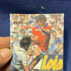Coleccionismo deportivo: 1990-1991 CALENDARIO LIGA Y BALONCESTO FUTBOL TABACOS CASA RUIZ ARANJUEZ 11,5X8CMS. Lote 220805246