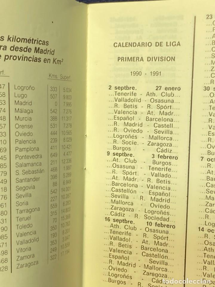 Coleccionismo deportivo: 1990-1991 CALENDARIO LIGA Y BALONCESTO FUTBOL TABACOS CASA RUIZ ARANJUEZ 11,5X8CMS - Foto 2 - 220805246