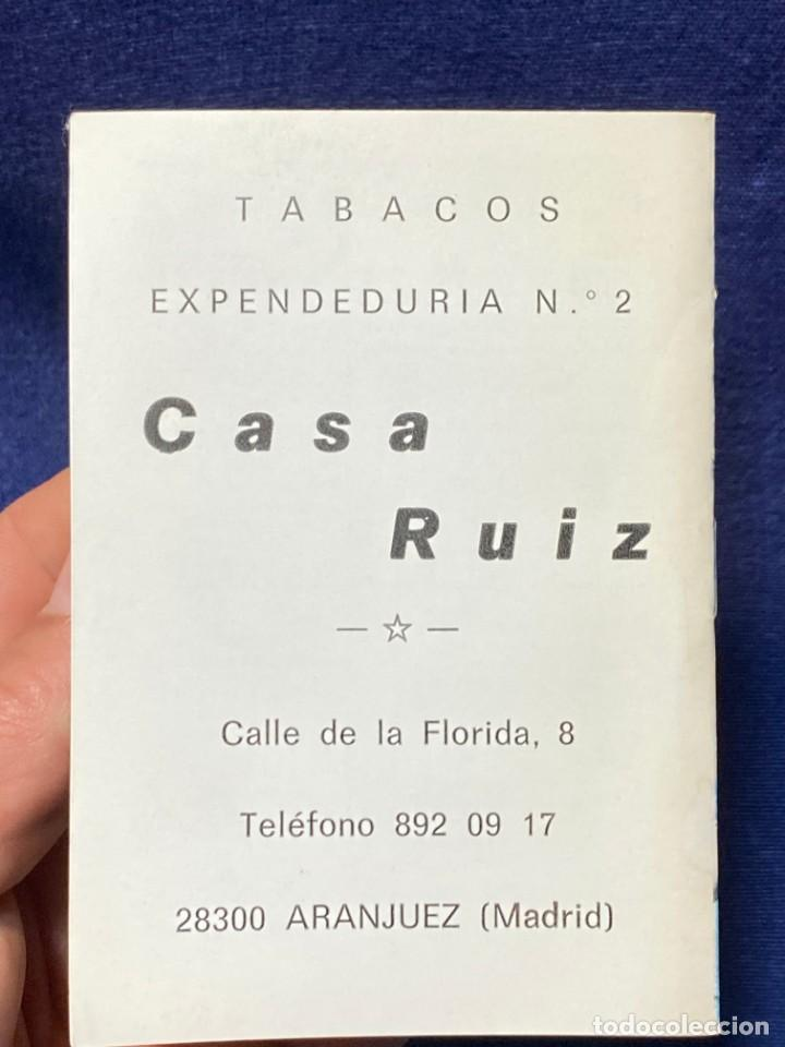 Coleccionismo deportivo: 1990-1991 CALENDARIO LIGA Y BALONCESTO FUTBOL TABACOS CASA RUIZ ARANJUEZ 11,5X8CMS - Foto 3 - 220805246