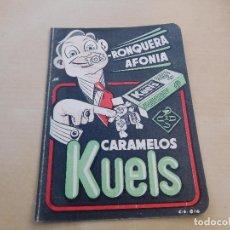 Coleccionismo deportivo: CALENDARIO DEPORTIVO LIGA 1ª DIVISION, 1953 - 1954 CARAMELOS KUELS. Lote 221130202