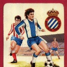Coleccionismo deportivo: CALENDARIO PUBLICIDAD ESCUDO FUTBOL ESPAÑOL 1975 NO FOURNIER ORIGINAL CAL10541. Lote 222039556