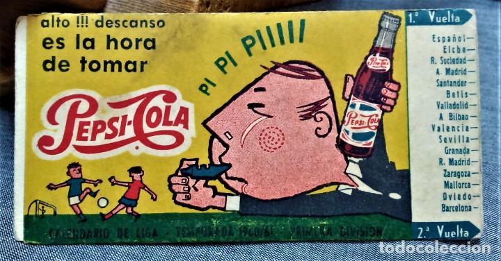 PEPSI-COLA.CALENDARIO DE LIGA.TEMPORADA 1960/61.PRIMERA DIVISIÓN (Coleccionismo Deportivo - Documentos de Deportes - Calendarios)