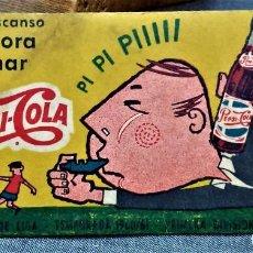 Coleccionismo deportivo: PEPSI-COLA.CALENDARIO DE LIGA.TEMPORADA 1960/61.PRIMERA DIVISIÓN. Lote 222145262