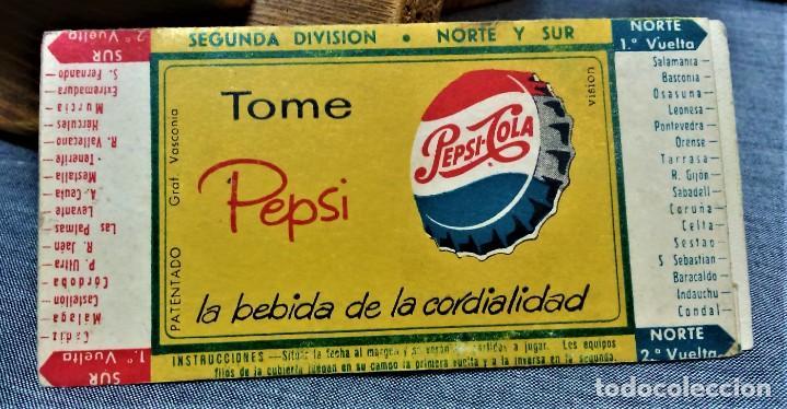Coleccionismo deportivo: PEPSI-COLA.CALENDARIO DE LIGA.TEMPORADA 1960/61.PRIMERA DIVISIÓN - Foto 2 - 222145262
