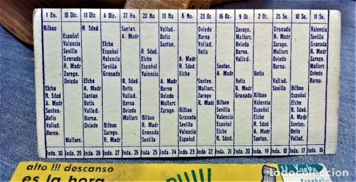 Coleccionismo deportivo: PEPSI-COLA.CALENDARIO DE LIGA.TEMPORADA 1960/61.PRIMERA DIVISIÓN - Foto 5 - 222145262