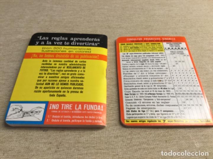 Coleccionismo deportivo: CALENDARIO SÚPER DINÁMICO 1977 - 1978 - Nº 7 y suplemento indice supletorio - Foto 2 - 222668843