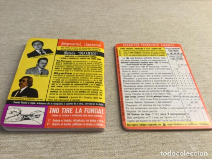 Coleccionismo deportivo: CALENDARIO SÚPER DINÁMICO 1975 - 1976 - Nº 5 y suplemento indice supletorio - Foto 2 - 222672138