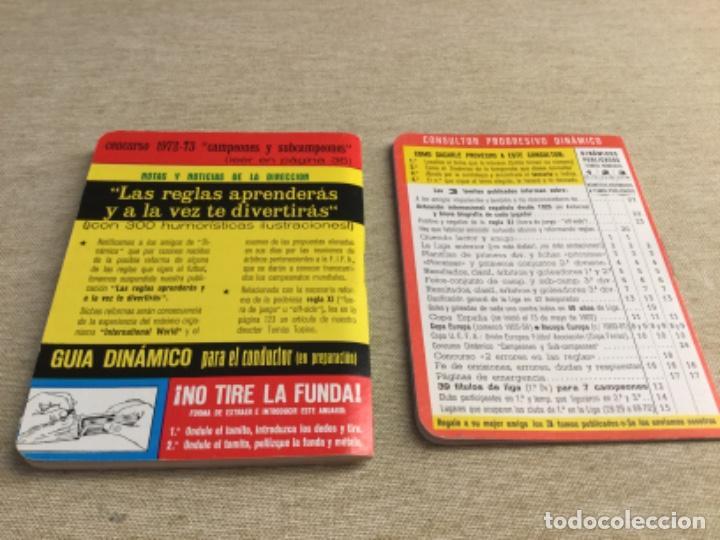 Coleccionismo deportivo: CALENDARIO SÚPER DINÁMICO 1973 - 1974 - Nº 3 y suplemento indice supletorio - Foto 2 - 222672636