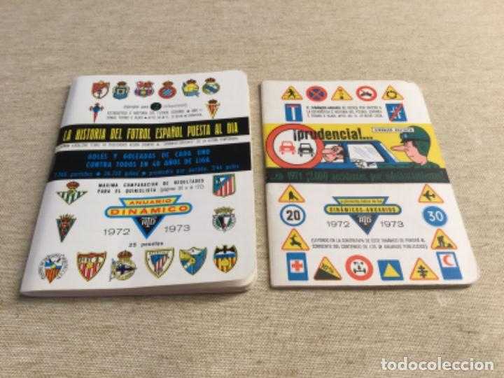 CALENDARIO SÚPER DINÁMICO 1972 - 1973 - Nº 2 Y SUPLEMENTO INDICE SUPLETORIO (Coleccionismo Deportivo - Documentos de Deportes - Calendarios)