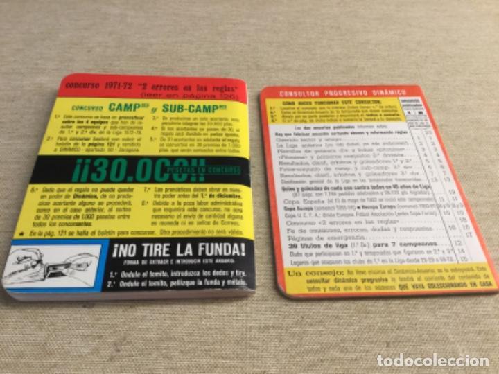 Coleccionismo deportivo: CALENDARIO SÚPER DINÁMICO 1972 - 1973 - Nº 2 y suplemento indice supletorio - Foto 2 - 222672850