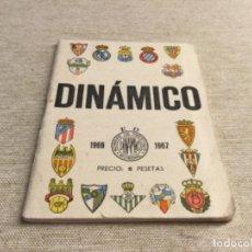 Coleccionismo deportivo: CALENDARIO SÚPER DINÁMICO 1966 - 1967. Lote 222675420
