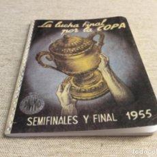 Coleccionismo deportivo: CALENDARIO DINÁMICO - LA LUCHA FINAL POR LA COPA - 1955 ( FASCIMIL). Lote 222675913
