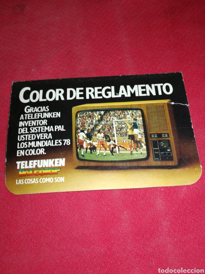 Coleccionismo deportivo: TELEFUNKEN, (1978), CALENDARIO FÚTBOL ARGENTINA. - Foto 3 - 222721803
