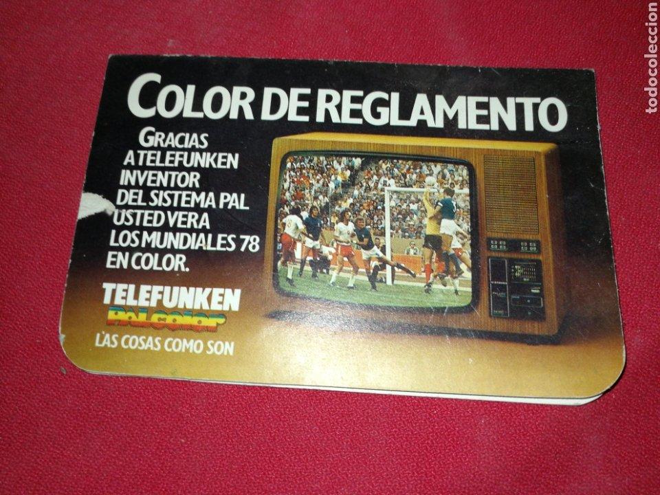 TELEFUNKEN, (1978), CALENDARIO FÚTBOL ARGENTINA. (Coleccionismo Deportivo - Documentos de Deportes - Calendarios)