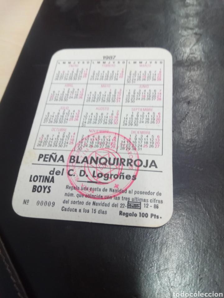 Coleccionismo deportivo: Calendario de bolsillo Club Deportivo Logroñés. 1987. Año primer ascenso a primera. Peña Lotina Boys - Foto 2 - 222786462