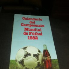 Collectionnisme sportif: COCA-COLA 1982, CALENDARIO MUNDIAL DE FUTBOL. Lote 223157452