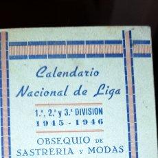 Coleccionismo deportivo: CALENDARIO NACIONAL DE LIGA 1. 2. Y 3 DIVISION NO ESTA ESCRITO .. Lote 223531473